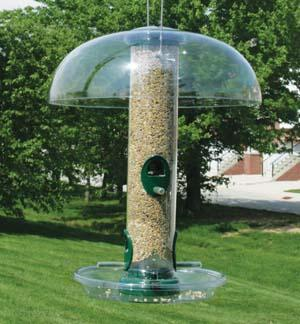 Quick-Clean Seed Tube with Weather Guard and Tray